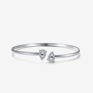 By Pass Bangle With Trillion Cut Zircons