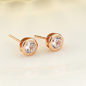 Dainty Rose Gold Studs - Rose Gold