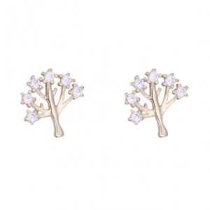 Delicate Tree Studs - Rose Gold